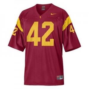 Nike USC Trojans #42 Ronnie Lott Men Stitch Jersey - Red