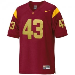 Nike USC Trojans #43 Troy Polamalu Men Stitch Jersey - Red