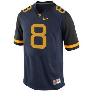 West Virginia Mountaineers Karl Joseph #8 Blue Men Stitch Jersey Nike