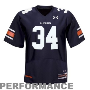 Auburn Tigers Bo Jackson #34 Blue Men Stitch Jersey Under Armour
