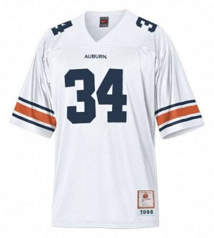 Men Auburn Tigers #34 Bo Jackson White Under Armour Stitch Jersey