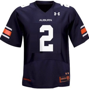 Auburn Tigers Cameron Newton #2 Blue Men Stitch Jersey Under Armour