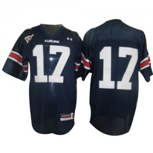 Auburn Tigers Josh Bynes #17 Blue Men Stitch Jersey Under Armour