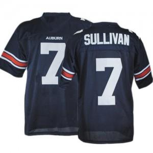 Auburn Tigers Pat Sullivan #7 Blue Men Stitch Jersey Under Armour