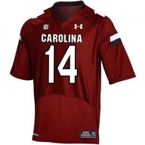 Under Armour South Carolina Gamecocks #14 Connor Shaw Men Stitch Jersey - Red