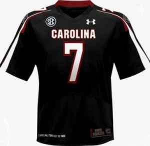South Carolina Gamecocks Jadeveon Clowney #7 Black Men Stitch Jersey Under Armour