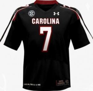 South Carolina Gamecocks Jadeveon Clowney #7 Black Youth(Kids) Jersey Under Armour