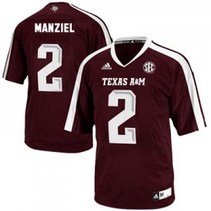 Adidas Texas A&M Aggies #2 Johnny Manziel Men Stitch Jersey - Red