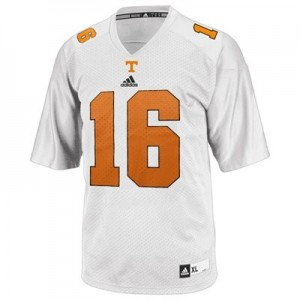 Men Tennessee Volunteers #16 Peyton Manning White Adidas Stitch Jersey