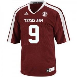 Adidas Texas A&M Aggies #9 Ricky Seals Jones Men Stitch Jersey - Red