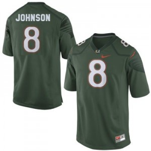 Miami Hurricanes Duke Johnson #8 Green Men 2014 Stitch Jersey Nike