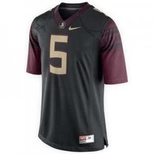 Florida State Seminoles (FSU) Jameis Winston #5 Black Men 2014 Stitch Jersey Nike