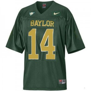 Baylor Bears Bryce Petty #14 Green Men Stitch Jersey Nike