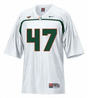 Men Miami Hurricanes #47 Michael Irvin White Nike Stitch Jersey