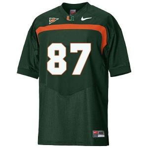 Miami Hurricanes Reggie Wayne #87 Green Youth(Kids) Jersey Nike