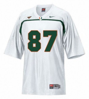 Men Miami Hurricanes #87 Reggie Wayne White Nike Stitch Jersey