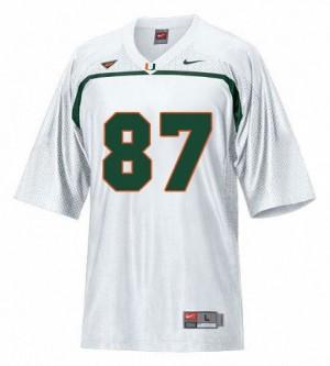 Youth(Kids) Miami Hurricanes #87 Reggie Wayne White Nike Jersey