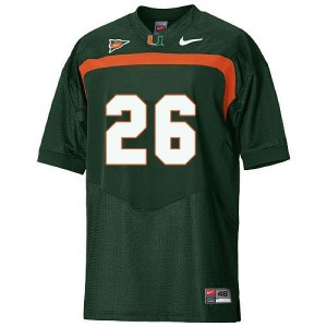 Miami Hurricanes Sean Taylor #26 Green Men Stitch Jersey Nike