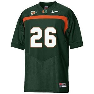 Miami Hurricanes Sean Taylor #26 Green Men Stitch Jersey Nike