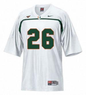 Youth(Kids) Miami Hurricanes #26 Sean Taylor White Nike Jersey