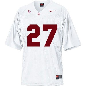 Men Alabama Crimson Tide #27 Derrick Henry White Nike Stitch Jersey