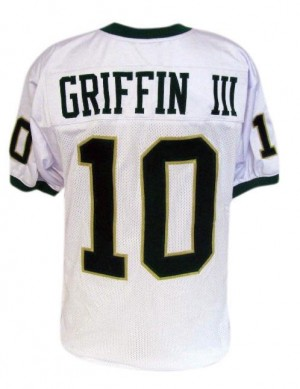 Men Baylor Bears #10 Robert Griffin III White Nike Stitch Jersey