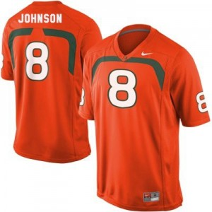 Miami Hurricanes Duke Johnson #8 Orange Men Stitch Jersey Nike