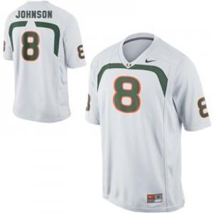 Youth Miami Hurricanes #8 Duke Johnson White Nike Jersey