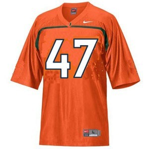 Miami Hurricanes Michael Irvin #47 Orange Men Stitch Jersey Nike
