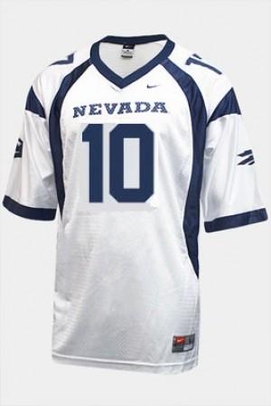 Youth(Kids) Nevada Wolf Pack #10 Colin Kaepernick White Nike Jersey