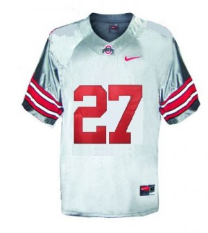 Ohio State Buckeyes Eddie George #27 Gray Men Stitch Jersey Nike