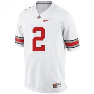 Men Ohio State Buckeyes #2 Terrelle Pryor White Nike Stitch Jersey