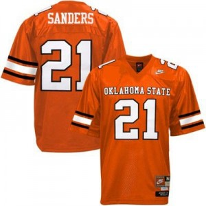 Oklahoma State Cowboys Barry Sanders #21 Orange Men Stitch Jersey Nike