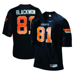 Oklahoma State Cowboys Justin Blackmon #81 Black Men Stitch Jersey Nike