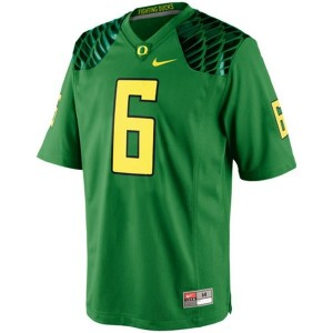 Oregon Ducks De'Anthony Thomas #6 Apple Green Men Stitch Jersey Nike