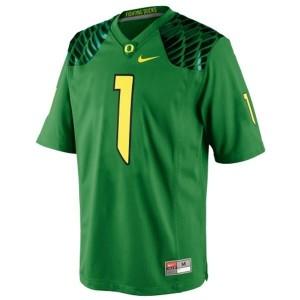 Oregon Ducks Josh Huff #1 Apple Green Youth(Kids) Jersey Nike