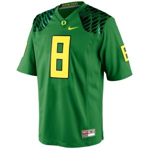 Oregon Ducks Marcus Mariota #8 Apple Green Men Stitch Jersey Nike