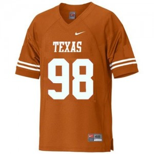 Texas Longhorns Brian Orakpo #98 Orange Men Stitch Jersey Nike