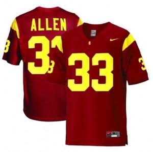 Nike USC Trojans #33 Marcus Allen Men Stitch Jersey - Red
