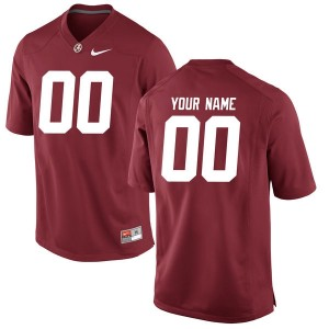 Nike Alabama Crimson Tide #00 A.J McCarron Custom Stitch Jersey - Red