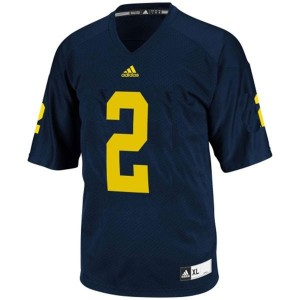 Michigan Wolverines Charles Woodson #2 Blue Men Stitch Jersey Adidas