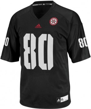 Nebraska Cornhuskers Kenny Bell #80 Black Youth(Kids) Jersey Adidas