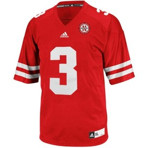 Adidas Nebraska Cornhuskers #3 Taylor Martinez Men Stitch Jersey - Red