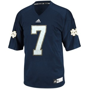 Notre Dame Fighting Irish Stephon Tuitt #7 Blue Youth(Kids) Jersey Adidas
