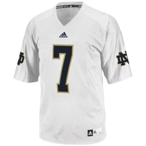 Youth(Kids) Notre Dame Fighting Irish #7 Stephon Tuitt White Adidas Jersey