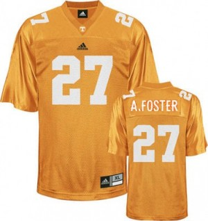 Tennessee Volunteers Arian Foster #27 Orange Youth(Kids) Jersey Adidas