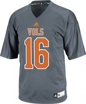 Adidas Tennessee Volunteers #16 Peyton Manning Men Stitch Jersey - Smokey Gray
