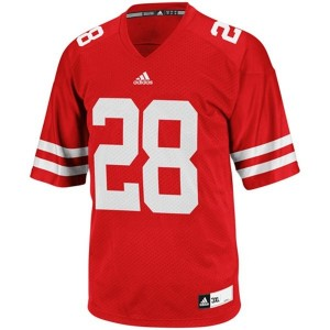 Adidas Wisconsin Badgers #28 Montee Ball Men Stitch Jersey - Red