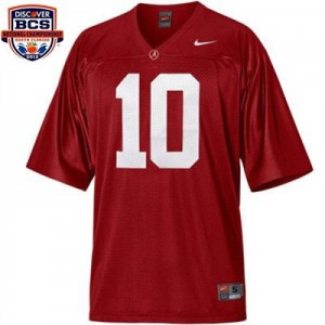 Nike Alabama Crimson Tide #10 A.J. McCarron BCS Bowl Patch Men Stitch Jersey - Red