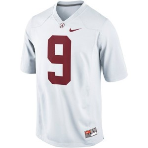 Youth(Kids) Alabama Crimson Tide #9 Amari Cooper White Nike Limited Jersey